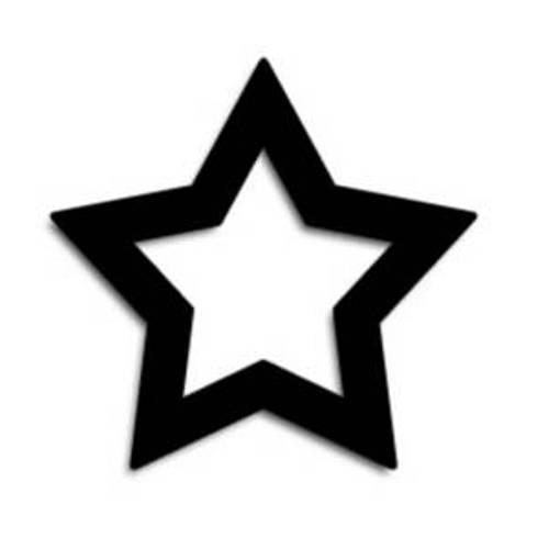 500x500 Stars Clipart Black And White