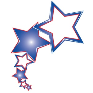 300x300 Stars Clipart Red And Blue