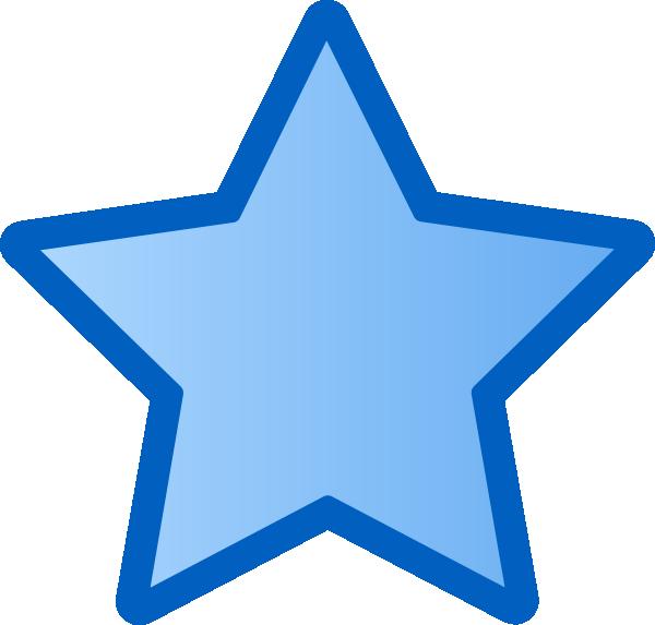 600x573 Blue Star Clip Art