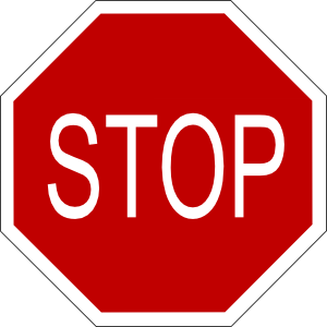 300x300 Stop Sign Clip Art