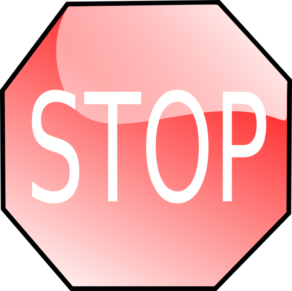 600x599 Stop Sign Clip Art Free Vector 4vector
