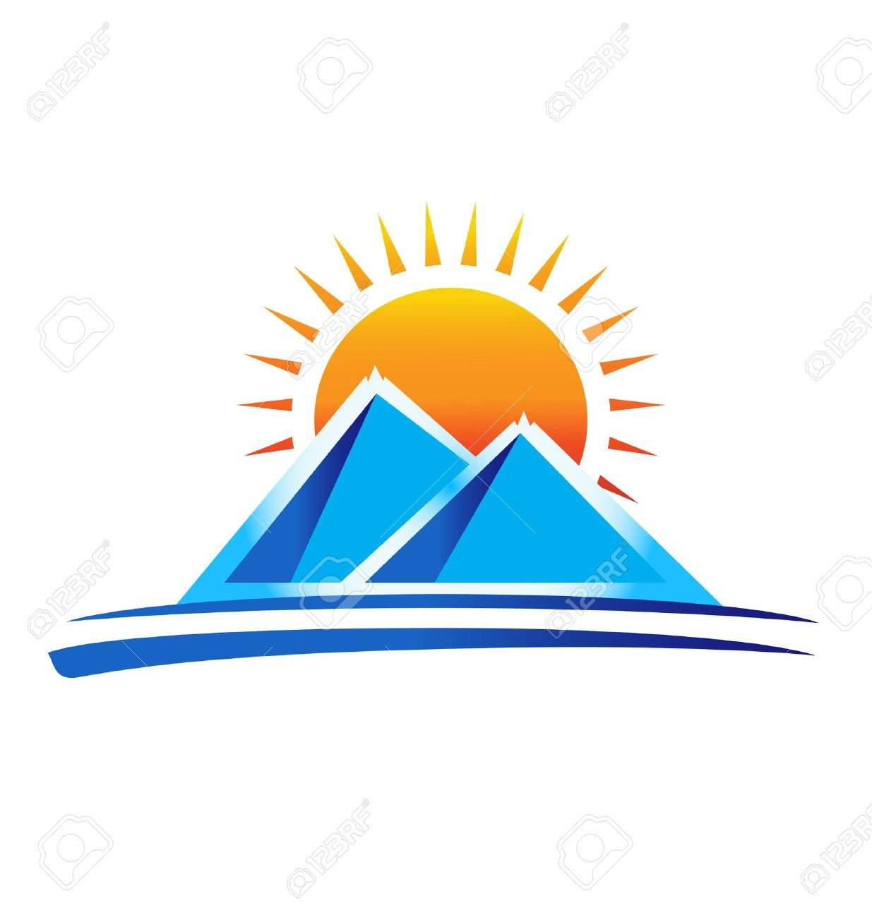 1235x1300 Mountain Sunrise Clipart