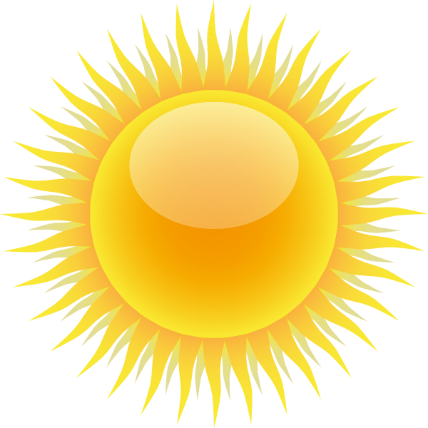 600x600 Sun Clipart