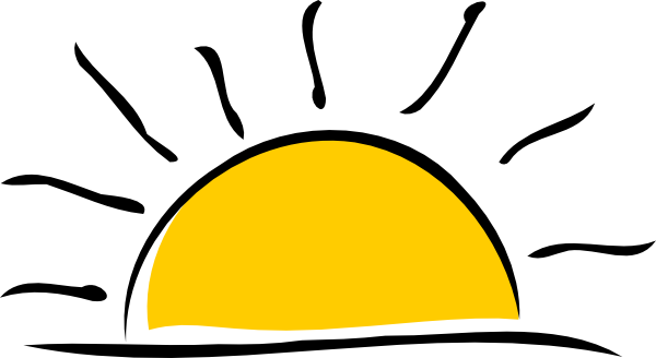600x328 Sunset Clip Art