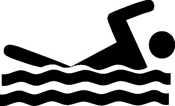 600x365 Swimmer Clip Art