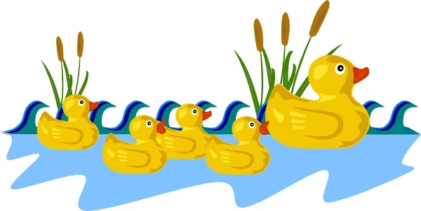 600x302 Rubber Duck Family Swimming Clip Art Free Vector In Open Office