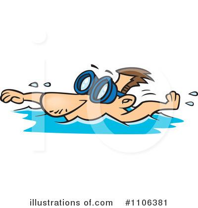 400x420 Swimmer Cartoon Clipart