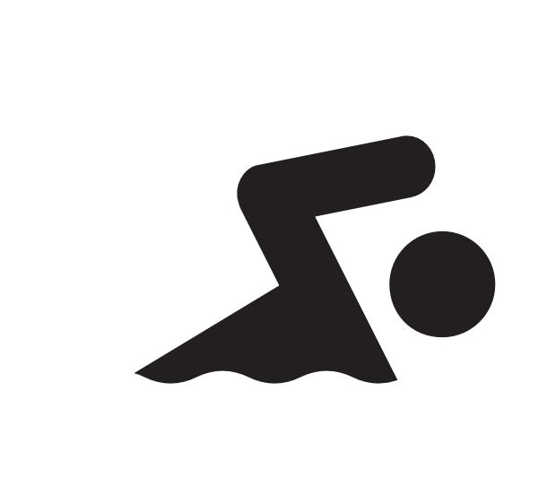 600x552 Swimmer Clip Art