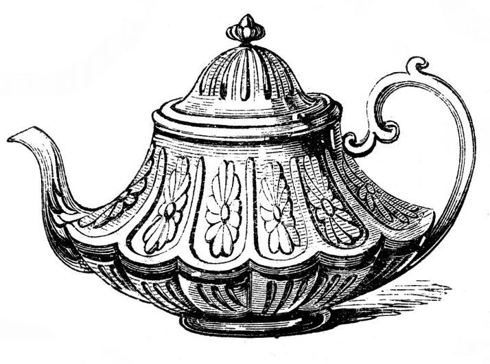 714x530 Vintage Tea Pot 88 Trendy Interior Or Free Vintage Clip Art