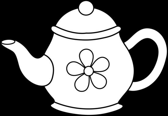 550x381 Cute Teapot Line Art