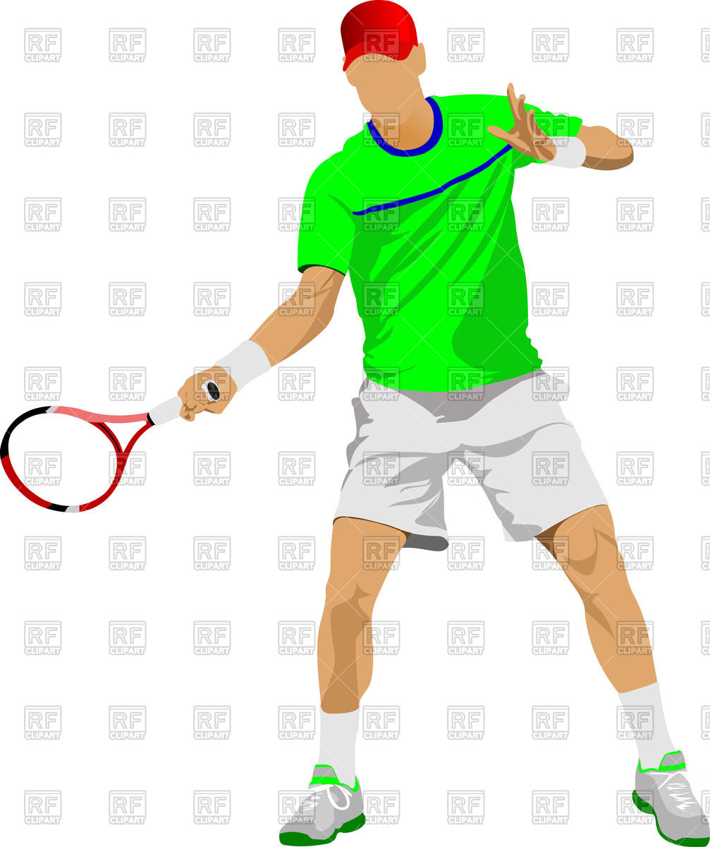 1007x1200 Silhouette Of Woman Tennis Player In Action Royalty Free Vector