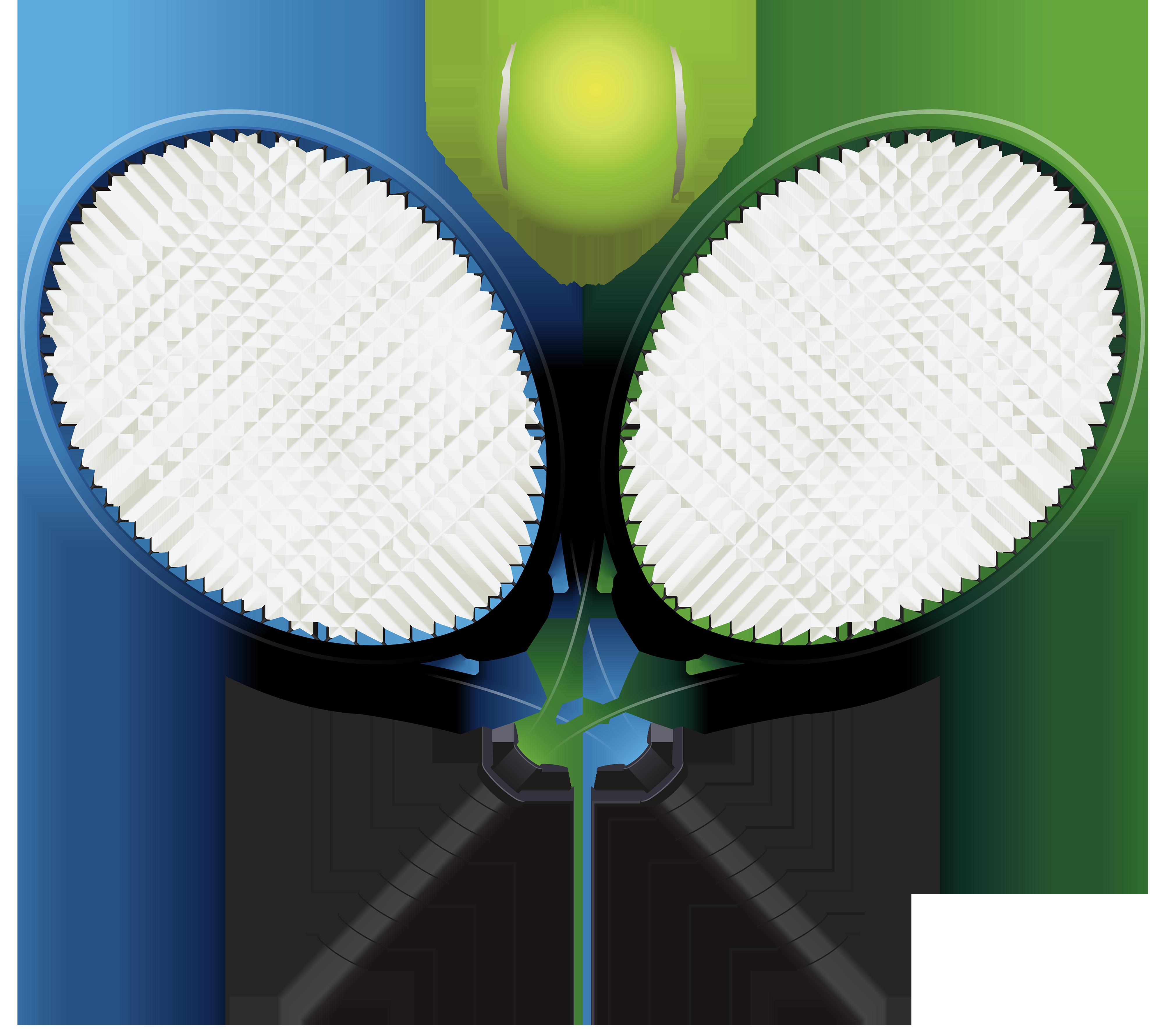 4000x3559 Tennis Ball Clipart Tennis Racket