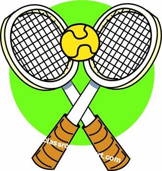 332x350 Tennis Racket Clipart