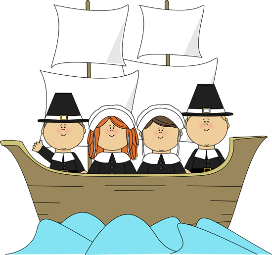 550x515 Free Children Thanksgiving Clip Art Pilgrims On The Mayflower