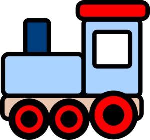 299x279 Little Blue Train Clip Art