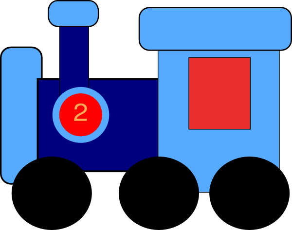 600x473 Caboose Blue Train Clip Art