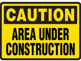 275x208 Construction Sign Clipart