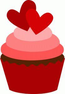 208x300 Valentine's Day Clipart Valentine Cupcake