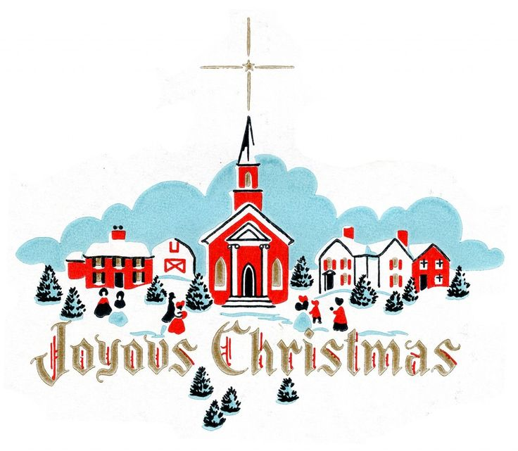 736x641 182 Best Vintage Christmas Cards Winter Landscapes Images