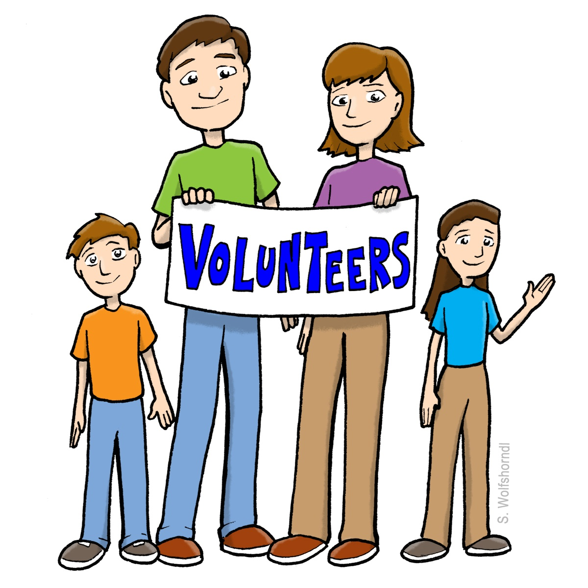 1200x1200 Volunteers Clip Art Black And White Free Clipart