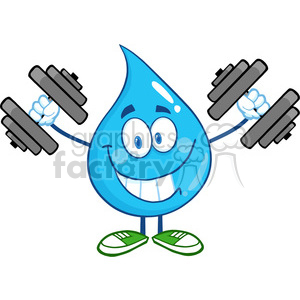 300x300 Royalty Free 6218 Royalty Free Clip Art Smiling Water Drop Cartoon