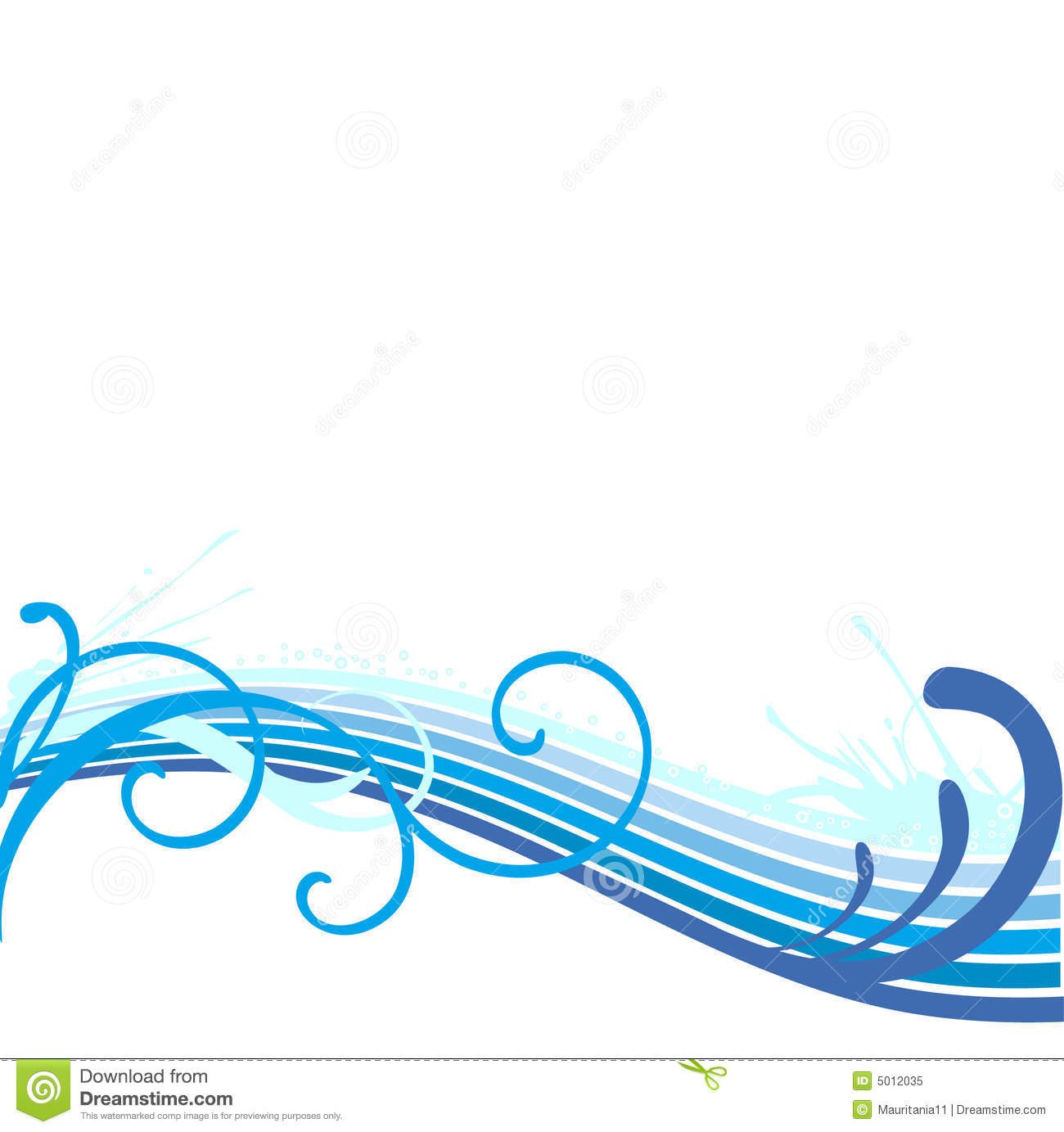 1300x1383 Water Wave Border Clipart