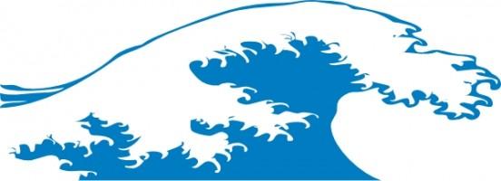552x200 Ocean Waves Clip Art