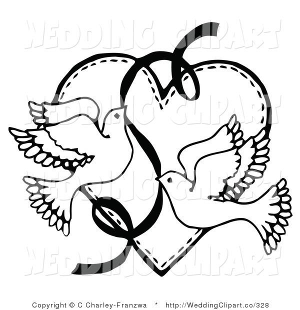 600x620 Black Amp White Clipart Wedding