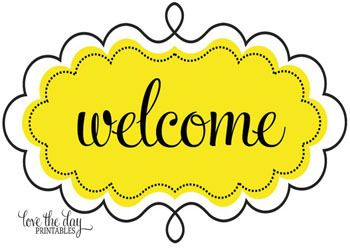 Free Clipart Welcome Sign
