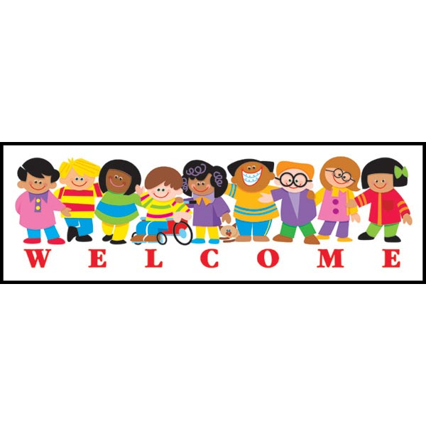 600x600 Free Kids Welcome Clipart Image