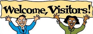381x142 Free Visitors Clipart