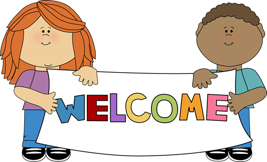 550x335 Kids Holding A Welcome Sign Clip Art