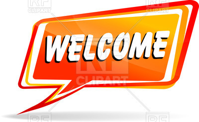 400x246 Speech Bubble With Word Welcome Royalty Free Vector Clip Art Image