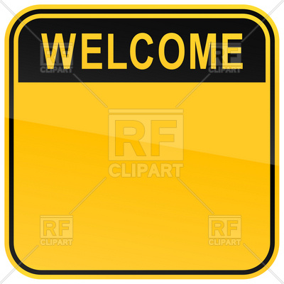 400x400 Square Template With Welcome Heading And Space For Text Royalty