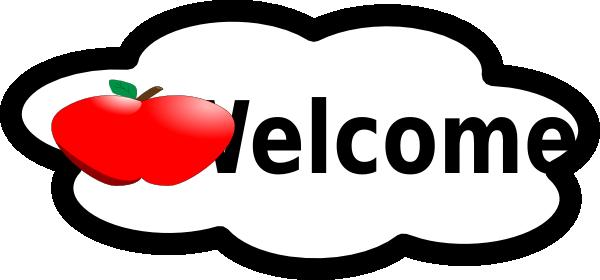 600x280 Welcome Classroom Sign Clip Art