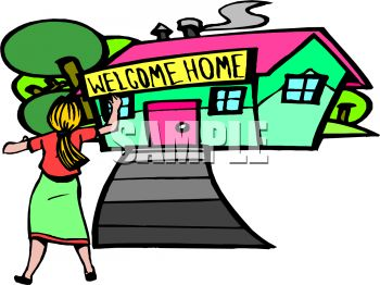 350x262 Welcome Home Clipart