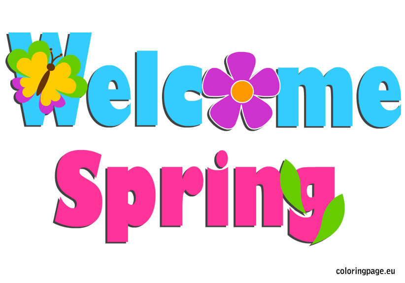 822x575 Welcome Spring Clipart