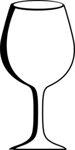 147x295 Empty Wine Glass Clip Art