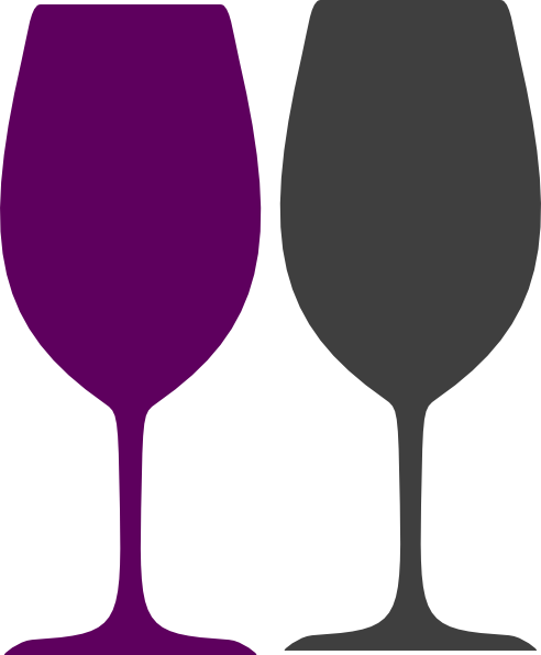 492x596 Purple And Gray Wine Glasses Clip Art