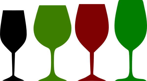 600x331 Red And Green Wine Glasses Clip Art