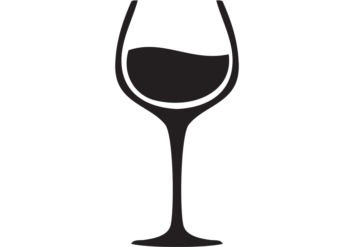 1400x980 Black Clipart Wine Glass