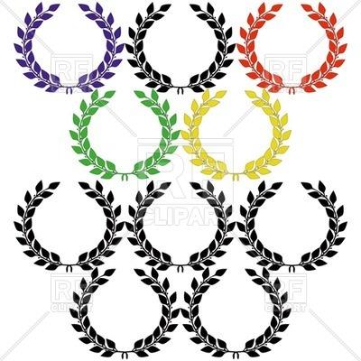 400x400 Simple Laurel Wreath Royalty Free Vector Clip Art Image