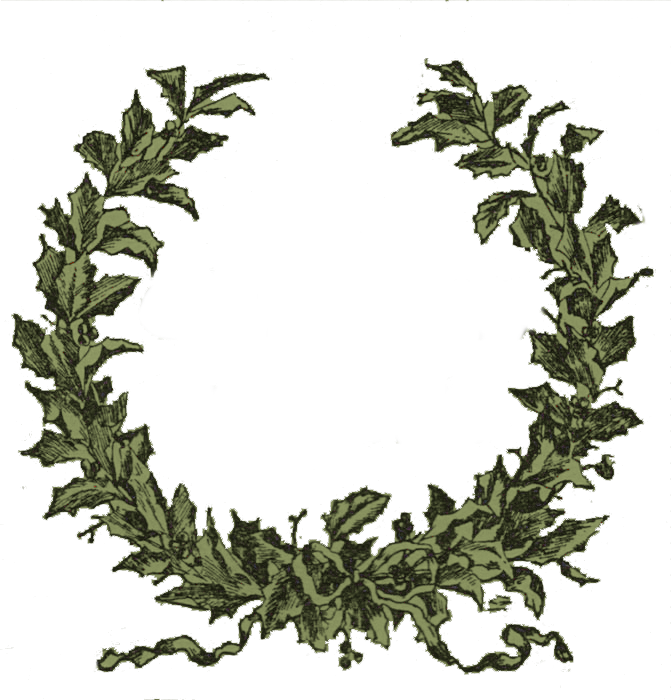 671x700 Wreath Clipart Vintage Christmas Wreath