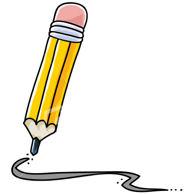 380x380 Pencil Writing Clip Art Free Clipart Images 4