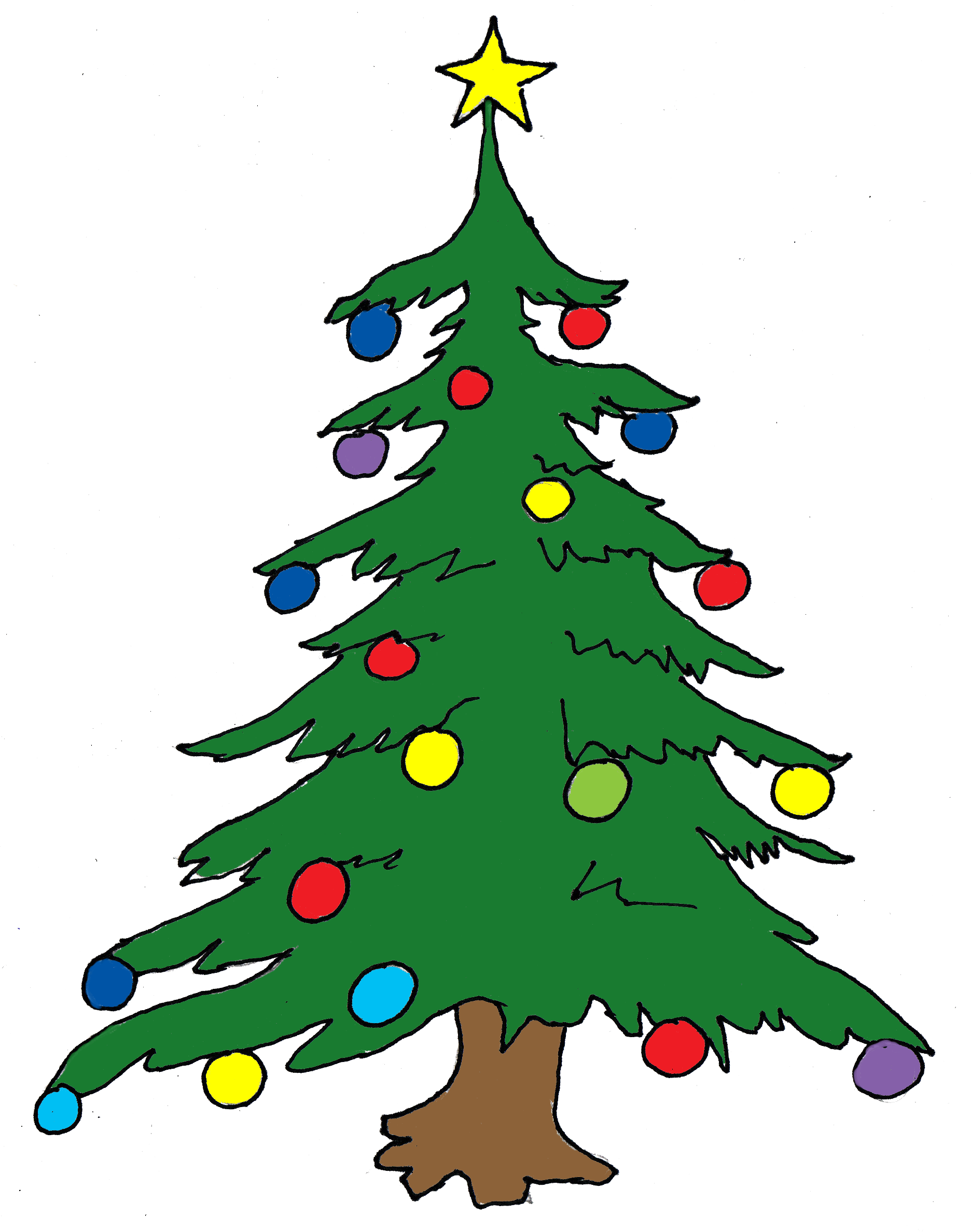 Xmas Tree Coloring Pages | Free download best Xmas Tree Coloring ...