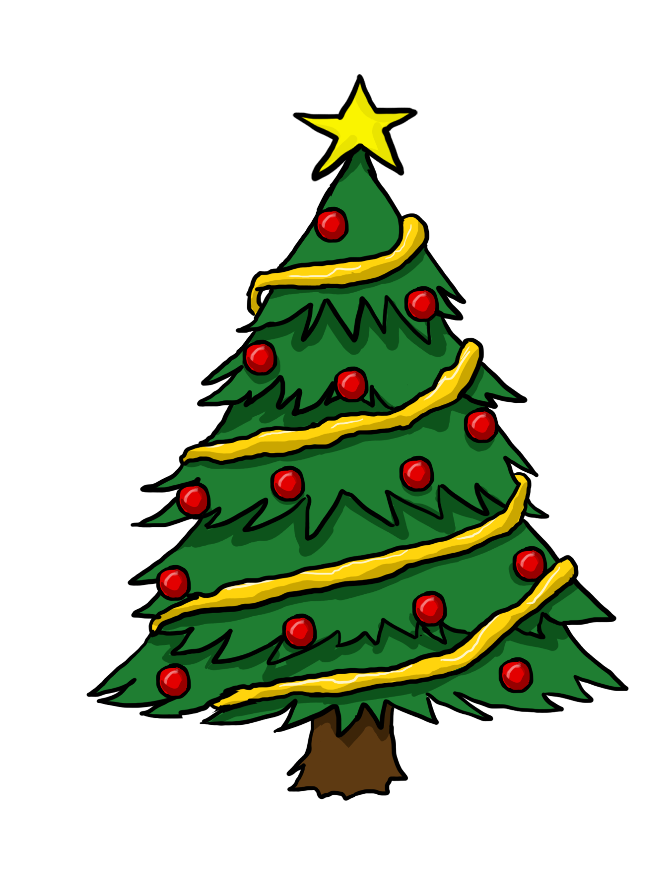 1350x1800 Christmas Tree Pictures Clipart