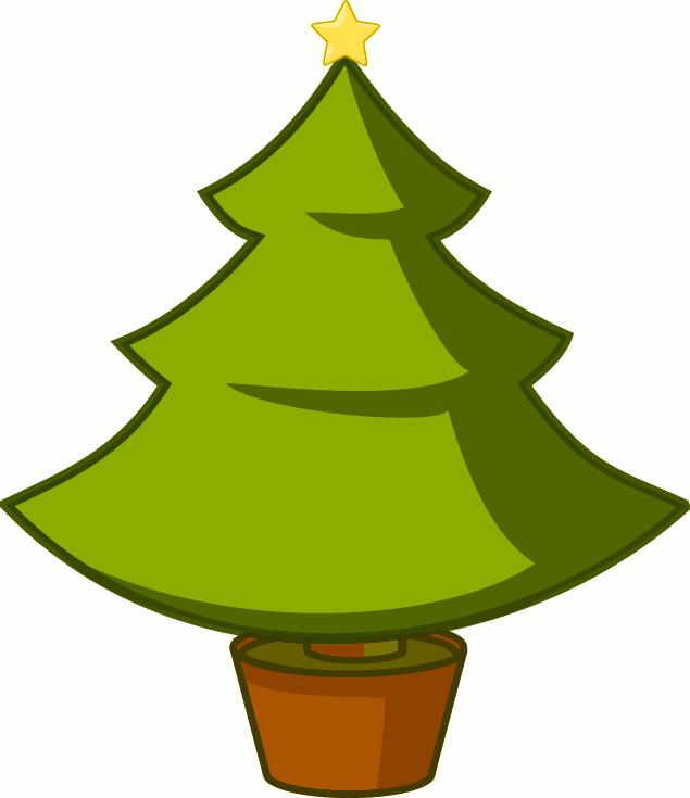 635x735 Free Christmas Tree Clipart