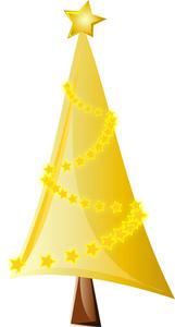 161x300 Yellow Clipart Christmas Tree