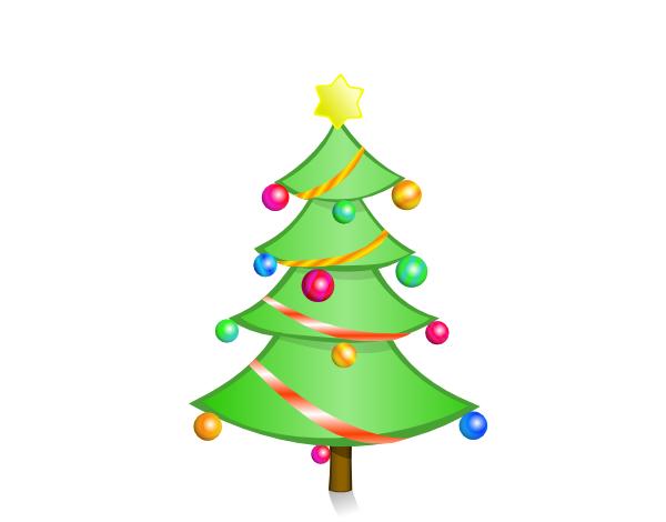 600x470 Christmas Tree Clip Art Free Vector 4vector