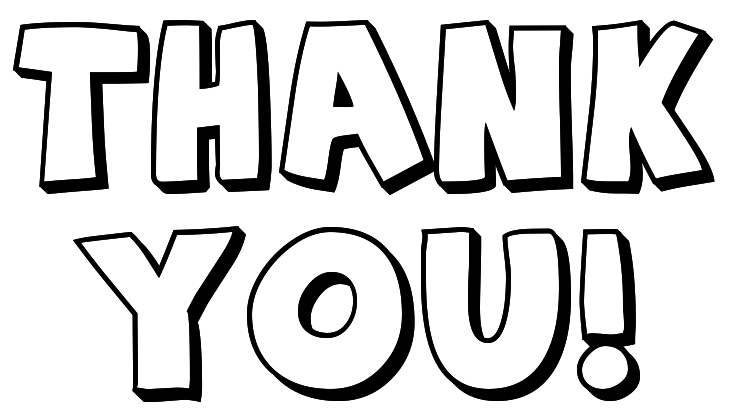 731x416 Thank You Clip Art Black And White Free Clipart 2
